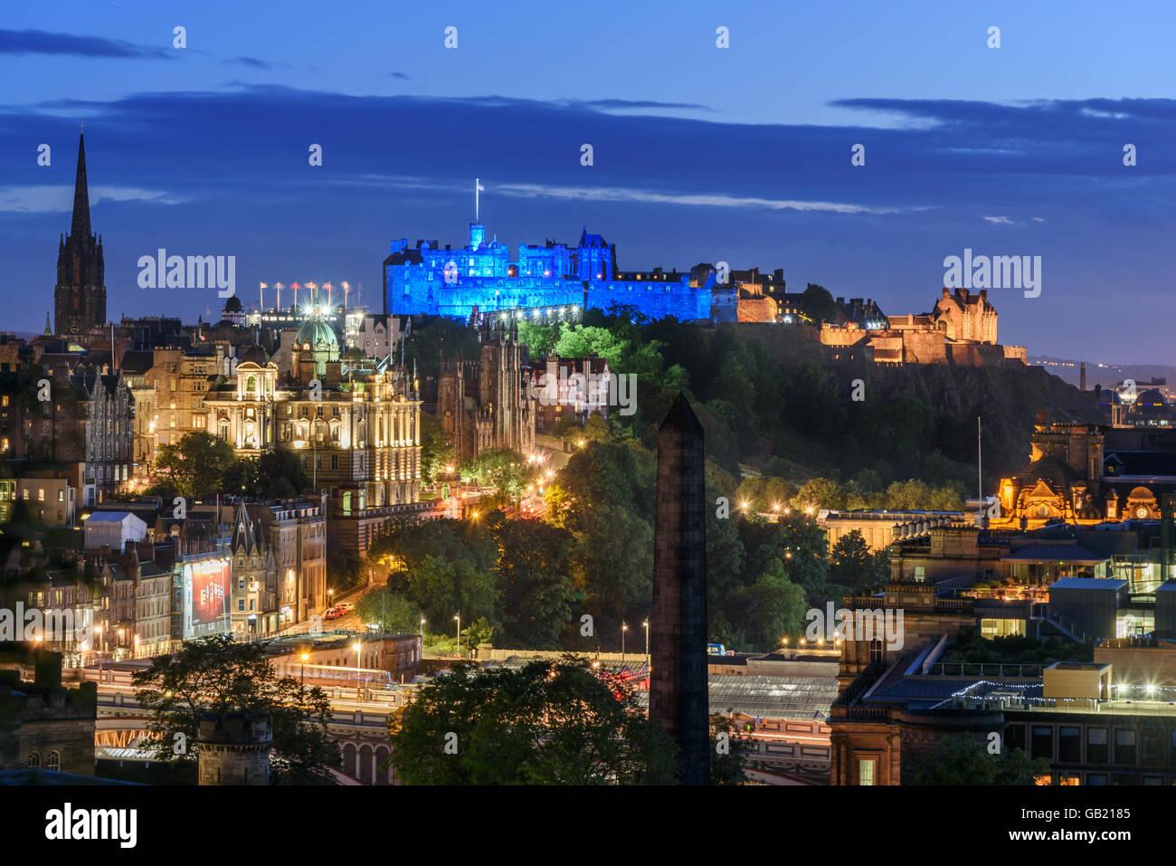 Edinburgh se trouve au cœur de l'Edinburgh et du Sud Est de l'Écosse Ville Région . Photo Stock