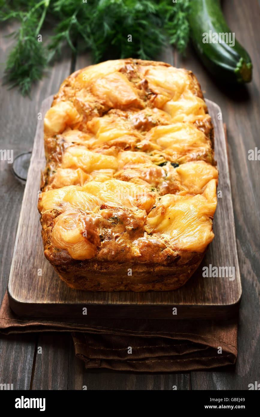 Courgettes avec pain de légumes, végétarien, alimentation saine Photo Stock
