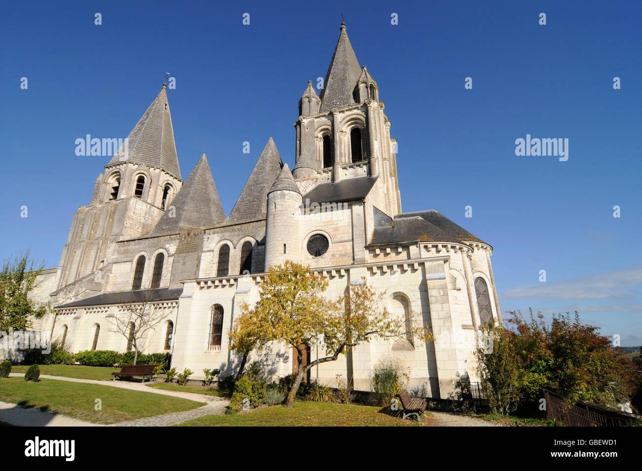 Loches, Loches, Tours, Indre-et-Loire, Centre, France Photo Stock