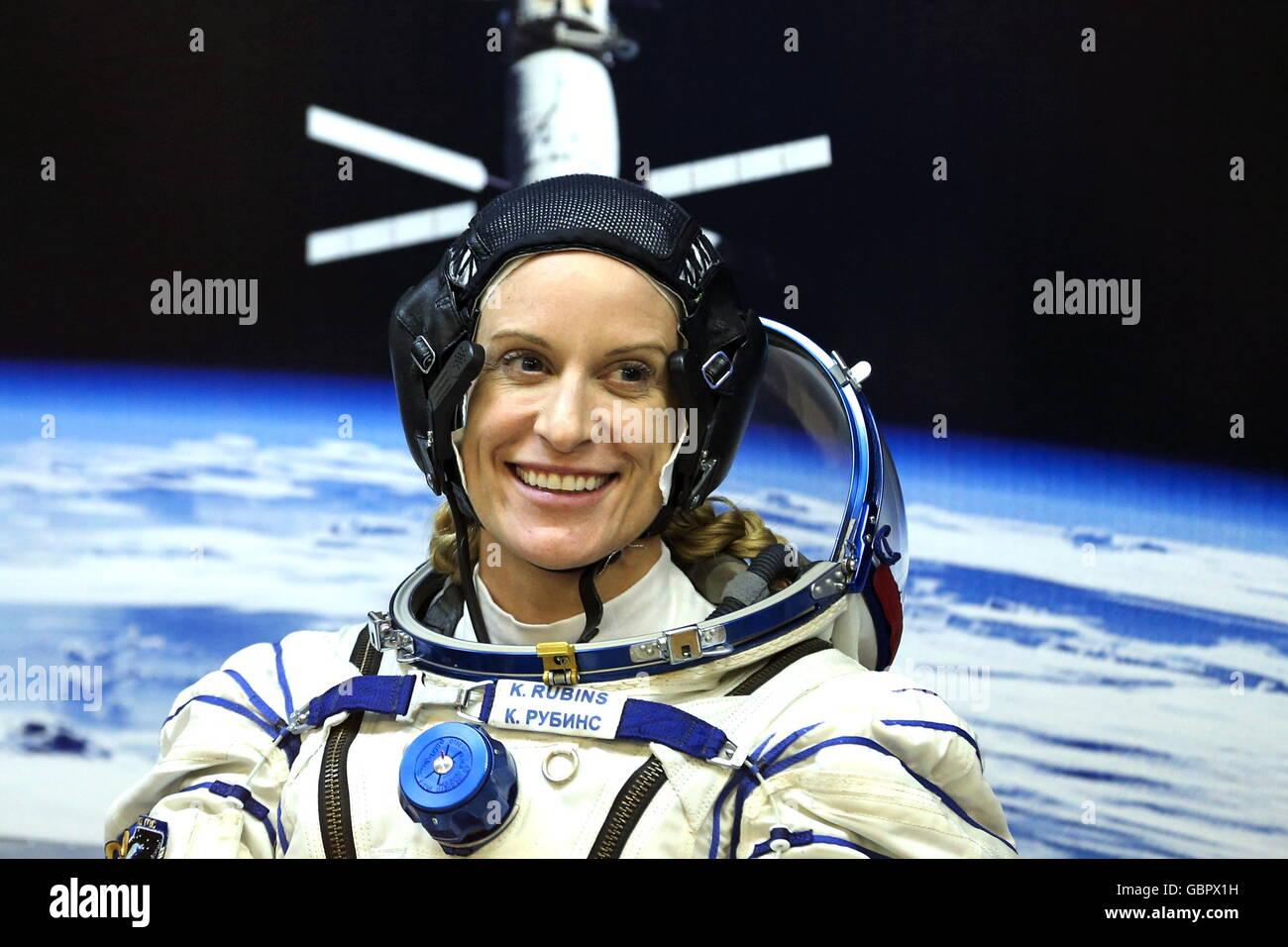 Cosmodrome de Baïkonour, au Kazakhstan. 7 juillet, 2016. L'astronaute américain Kathleen Rubins (NASA), un membre Banque D'Images