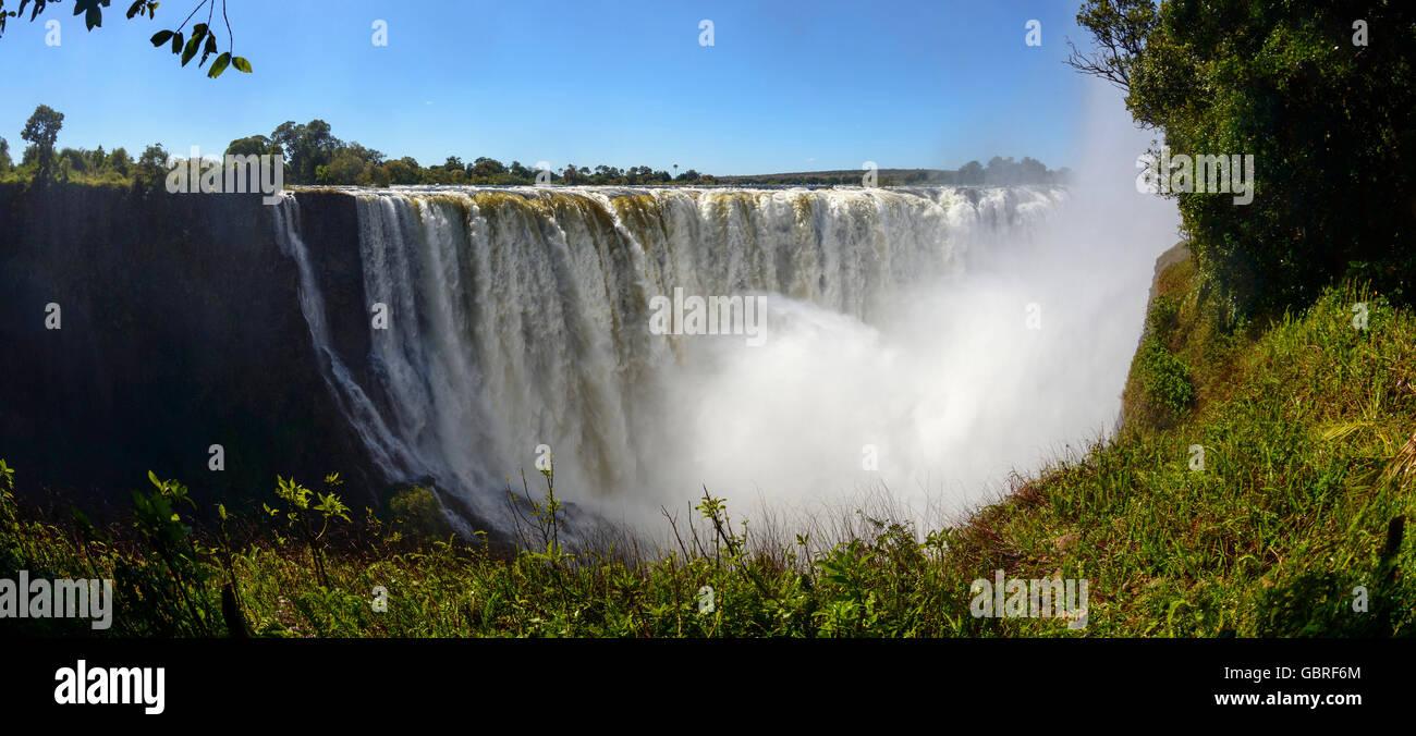 Fleuve Zambèze, chutes Victoria, Zambie et Zimbabwe Photo Stock