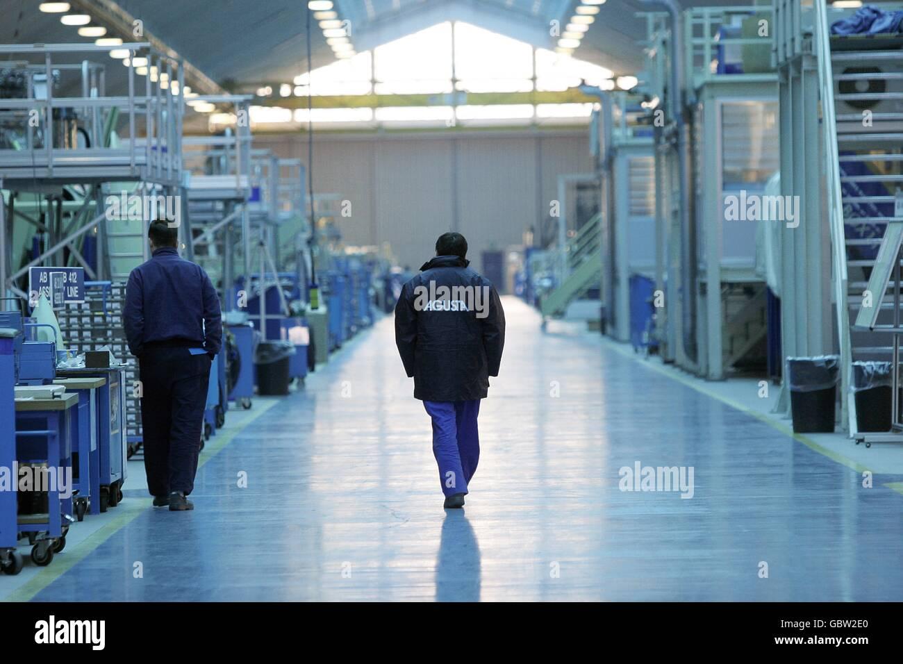 L'industrie aéronautique/Agusta Westland Helicopters - production - Samarate, Varese, Italie © Riccardo Photo Stock