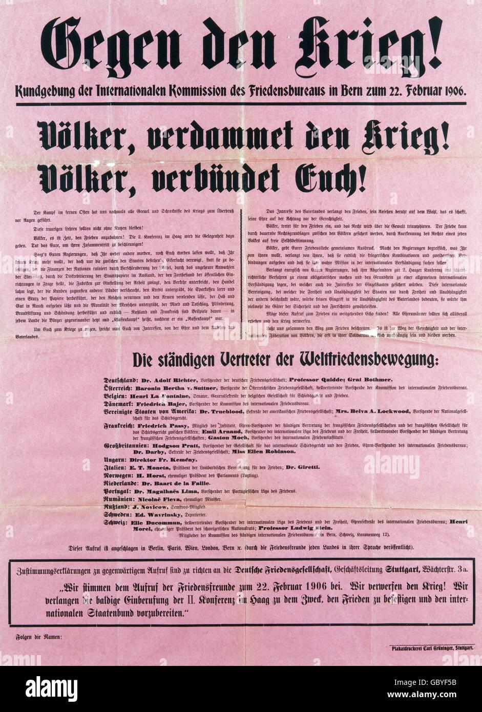 """Affiches, 'contre la guerre!"""", proclamation de mouvement mondial pour la paix, de l'information Photo Stock"""