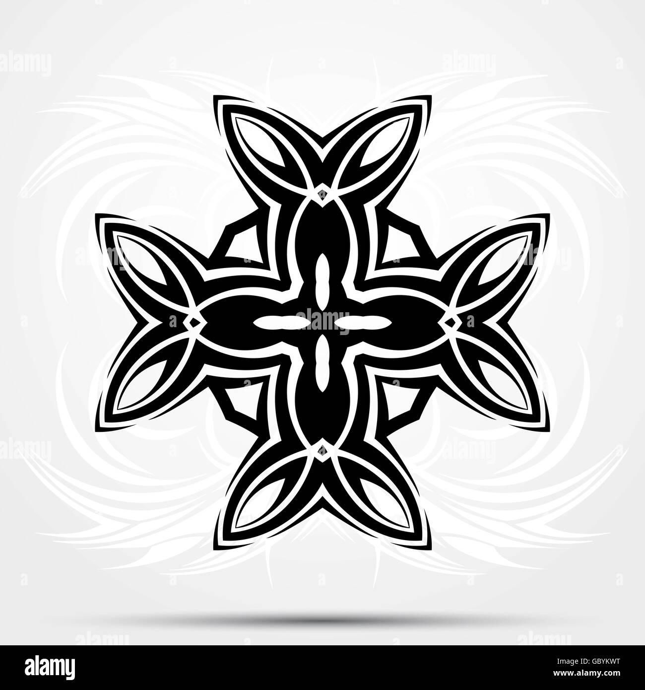 Tatouage Tribal Abstrait Croix Celtique Vecteurs Et Illustration