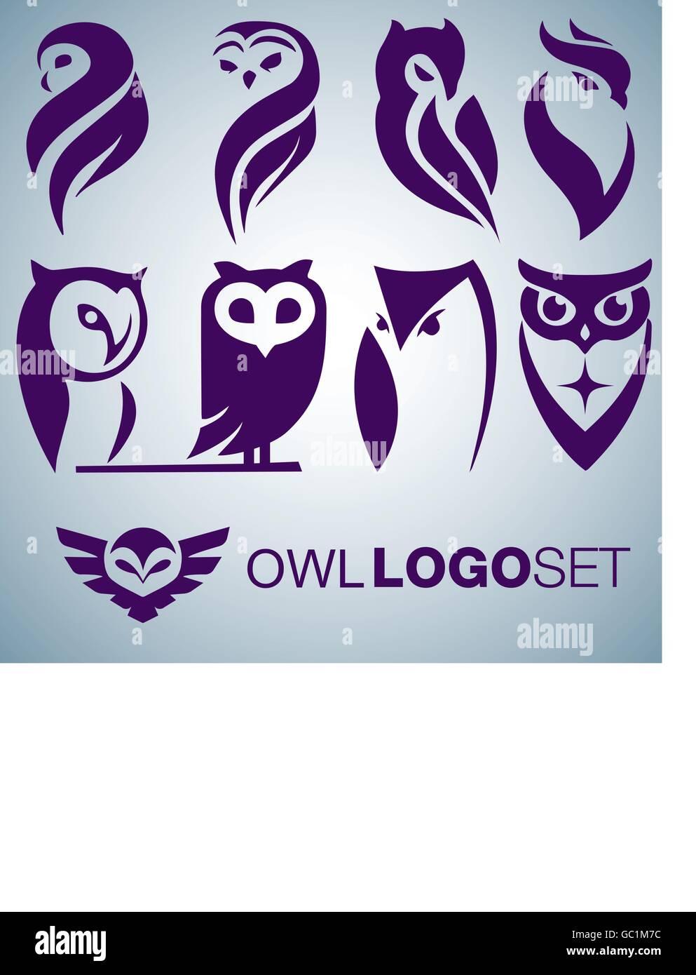 La Chouette Symbole logo chouette concept jeu conçu, de façon simple, de sorte qu'il