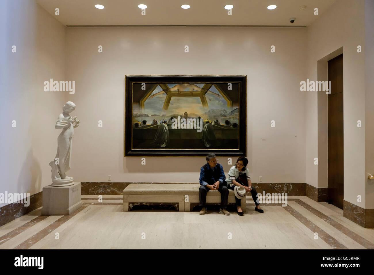 """""""Le sacrement de la Dernière Cène' par Salvador Dali, 1955 - Smithsonian National Gallery of Photo Stock"""
