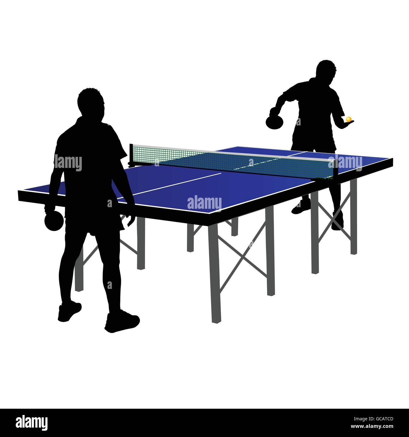 Deux hommes à jouer au tennis de table vector illustration Illustration de Vecteur
