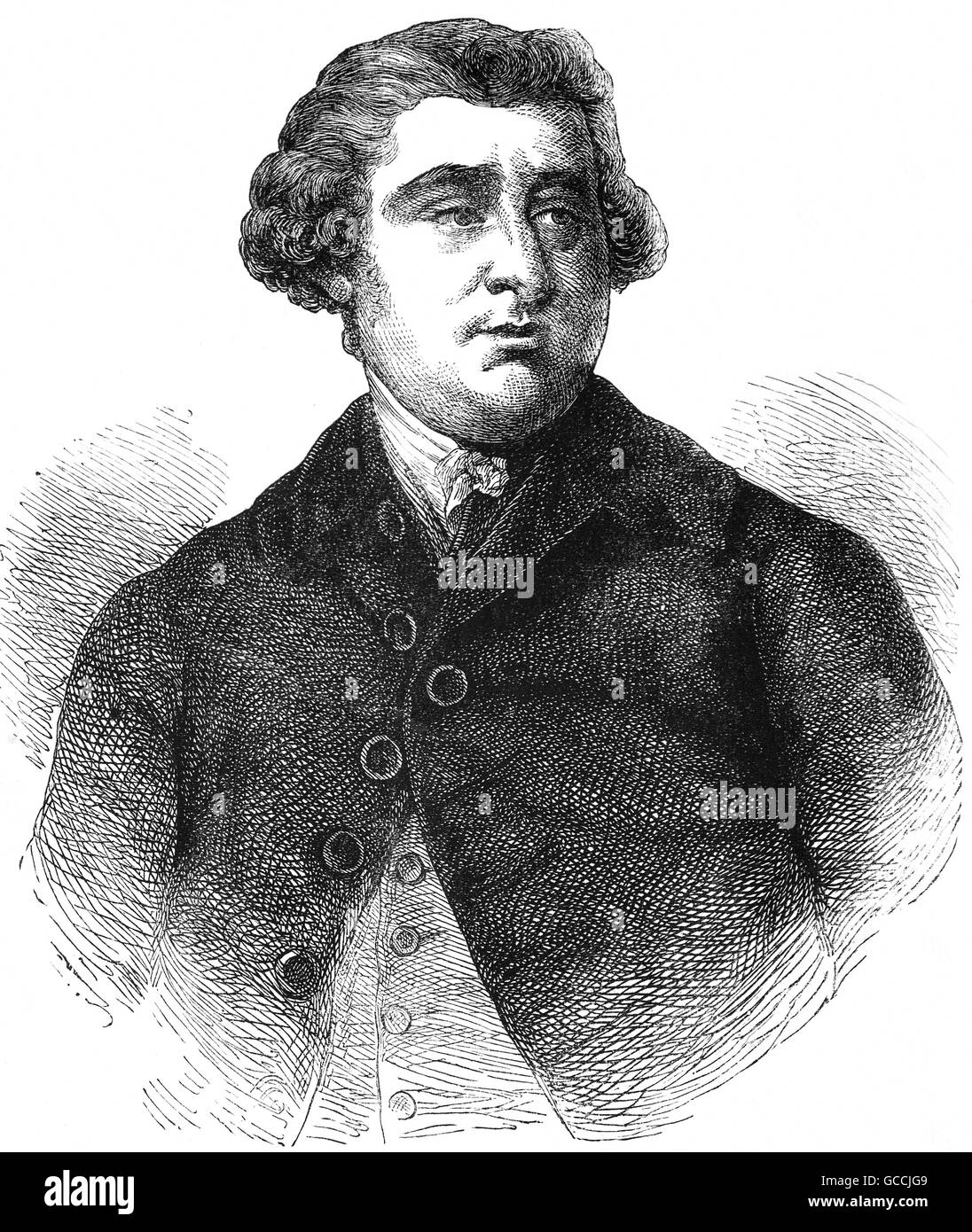 Charles James Fox (1749 - 1806), l'Honorable de 1762, était un éminent homme d'État britannique Photo Stock