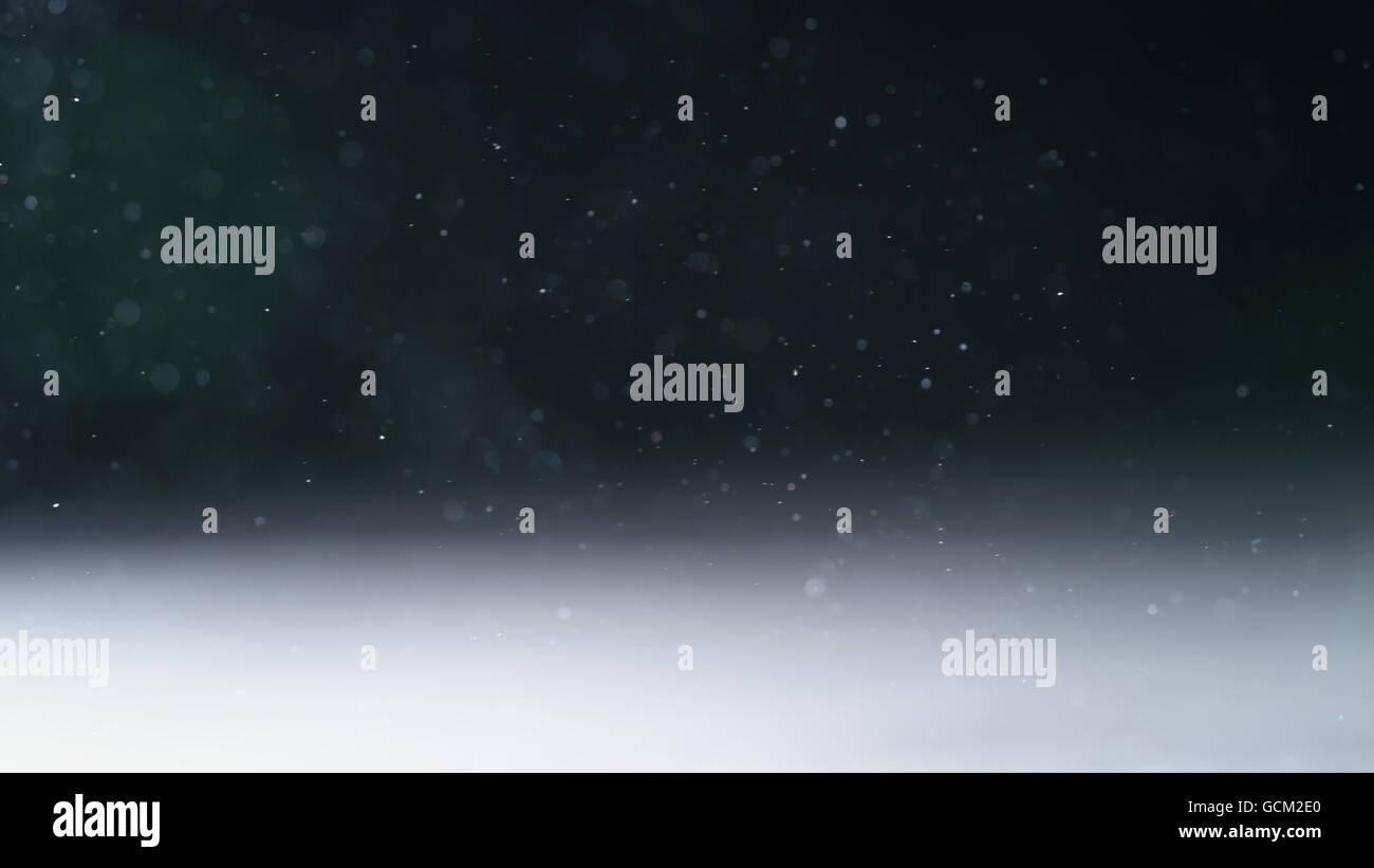 Les particules de poussière rétroéclairé réel avec de vrais reflets Photo Stock