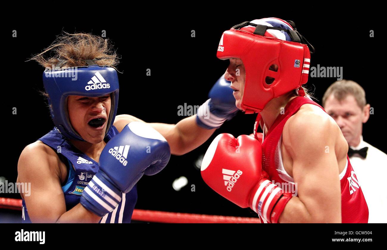 Boxe - Championnats de boxe amateur GO - Echo Arena Photo Stock
