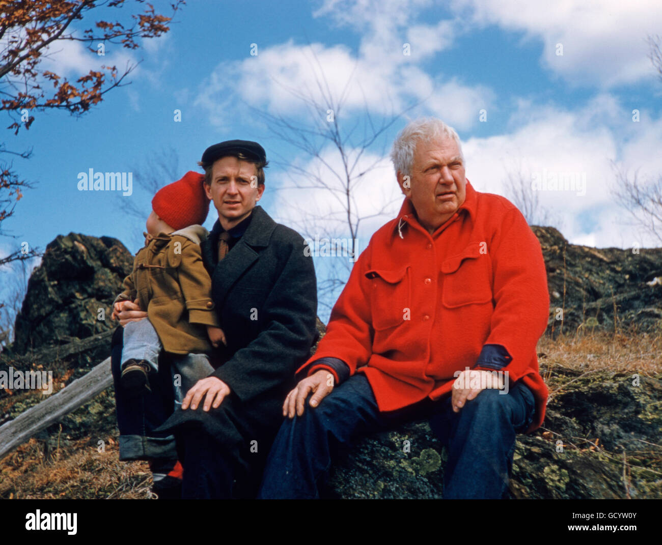 Alexander Calder et le peintre Jack Youngerman Photo Stock