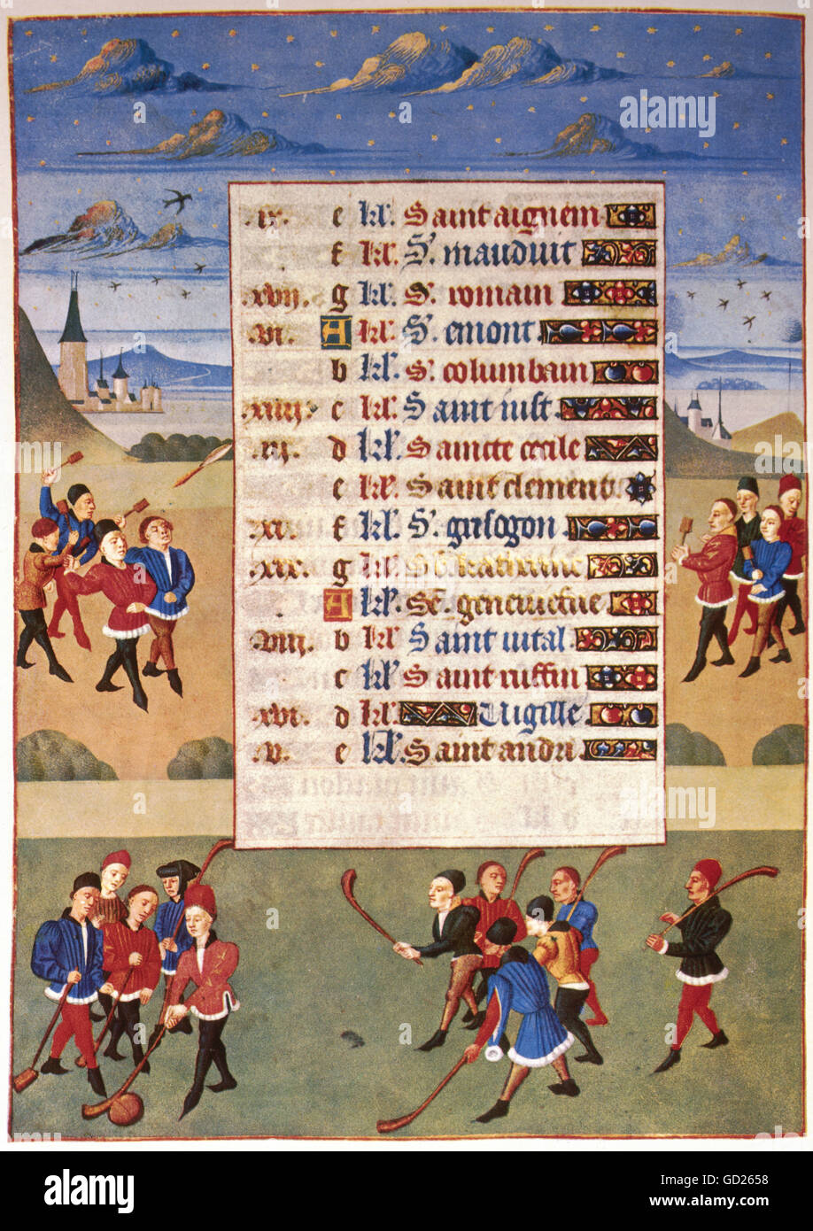Calendrier Medieval.Medieval Time Photos Medieval Time Images Alamy