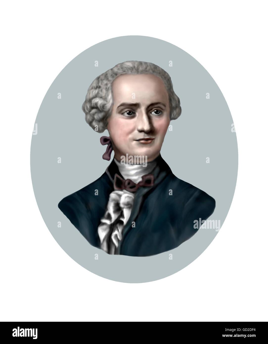Jean Le Rond d'Alembert, philosophe, mathématicien, 1717-1783 Photo Stock