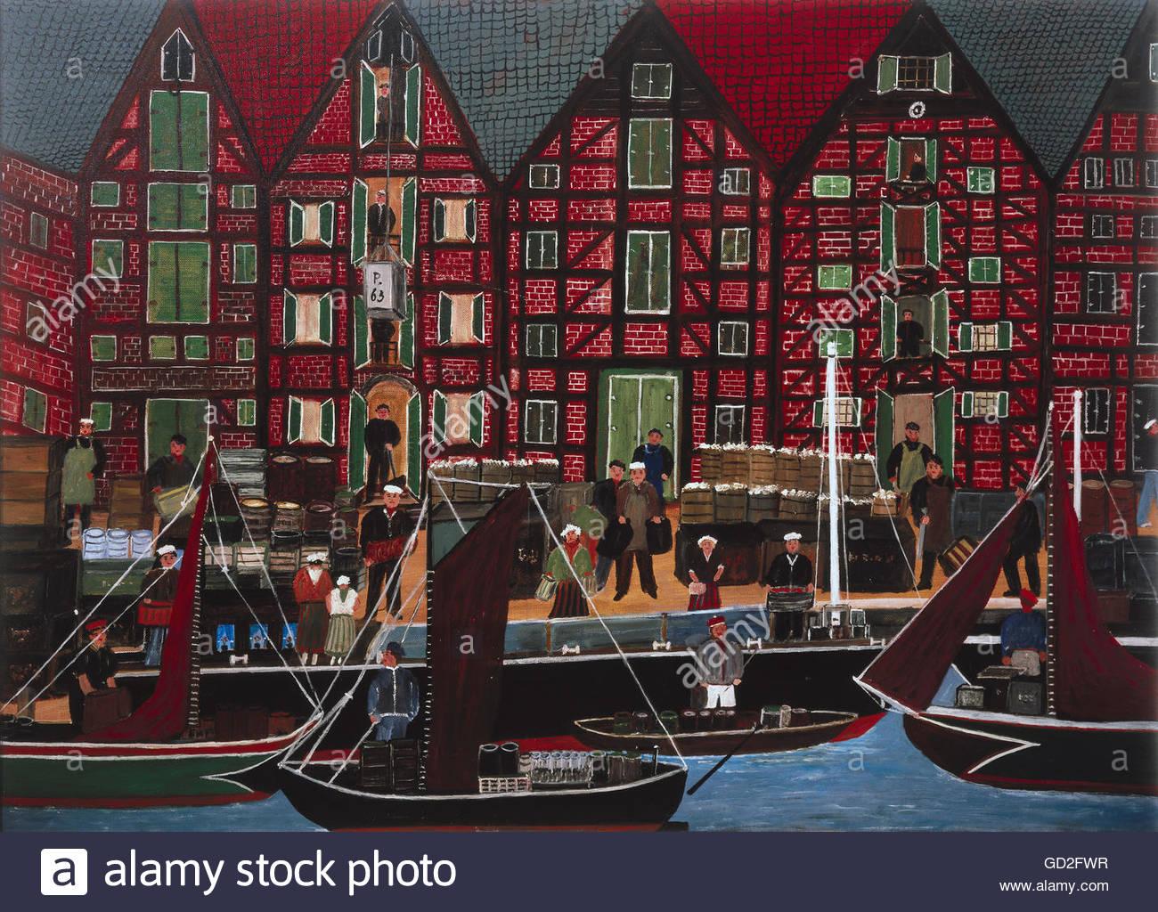 Beaux-arts, Rusche, le Dr. Waldemar, appelé 'pap' , l'artiste auteur doit aussi être vide Photo Stock