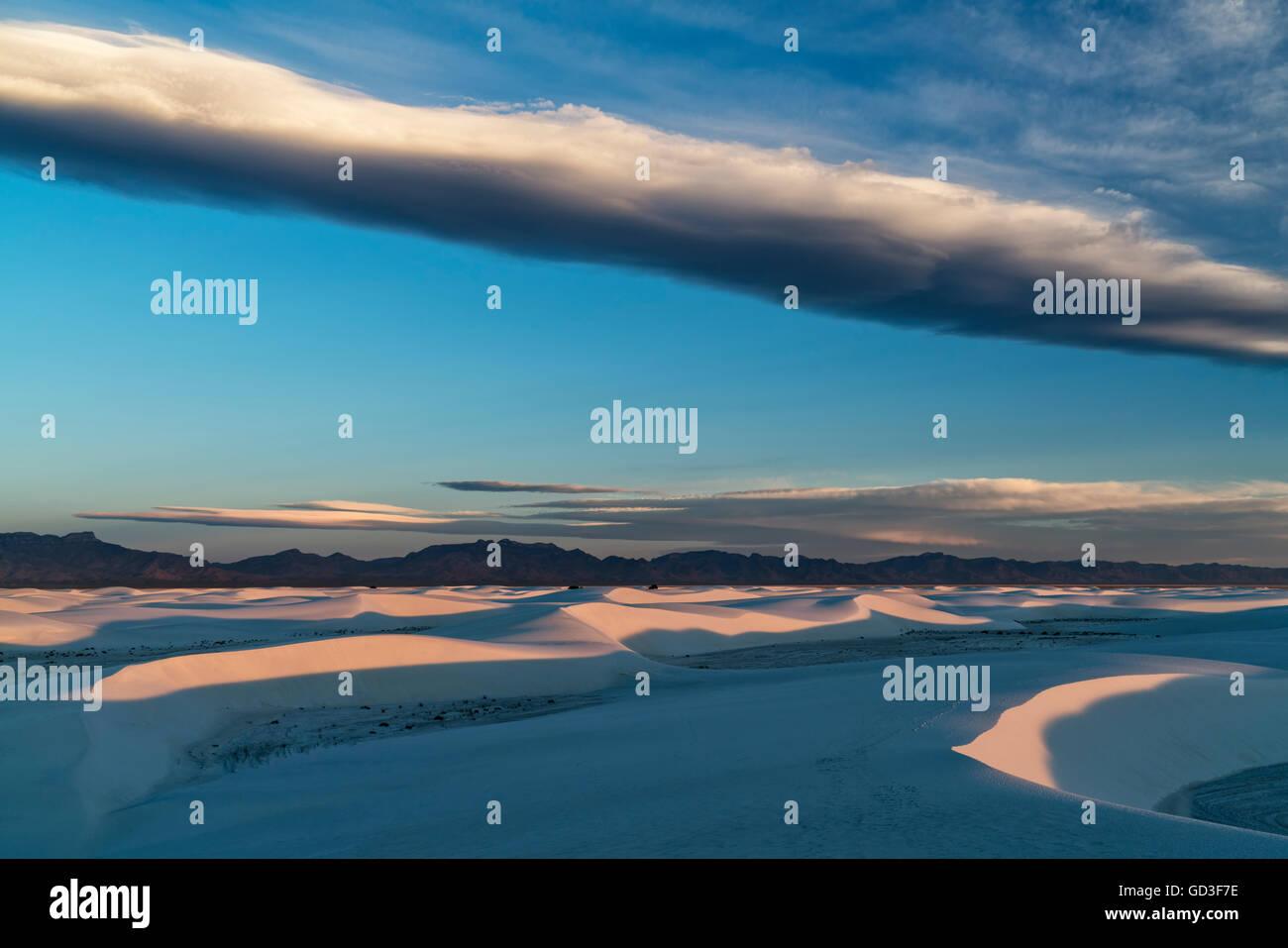 La première lumière sur les dunes de sable du désert Banque D'Images