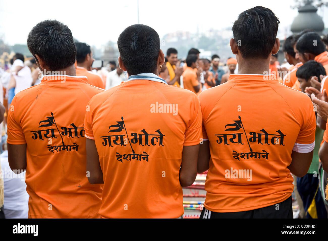 Kawariya bol bam, Nasik, Maharashtra, Inde, Asie Photo Stock