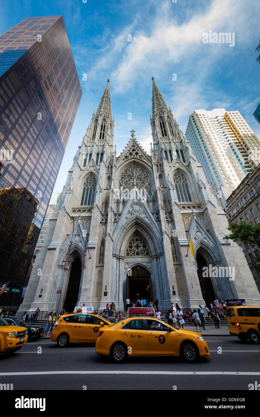 La Cathédrale Saint Patrick à New York City Banque D'Images
