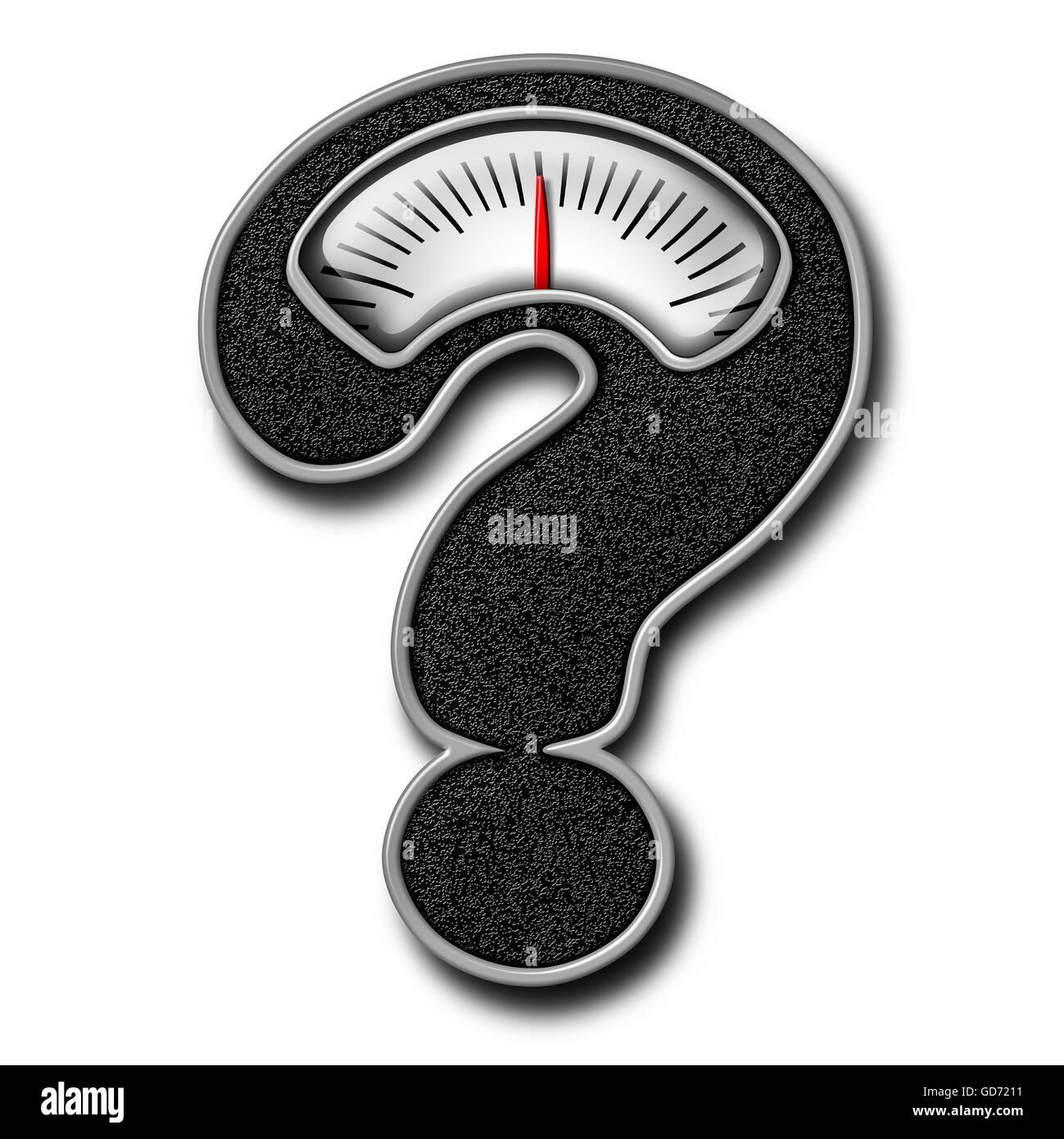 Conseils régimes comme symbole d'une salle de bains en forme d'échelle de poids comme un point Photo Stock