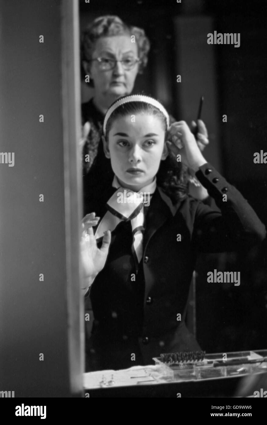Audrey Hepburn dans Vacances romaines Photo Stock