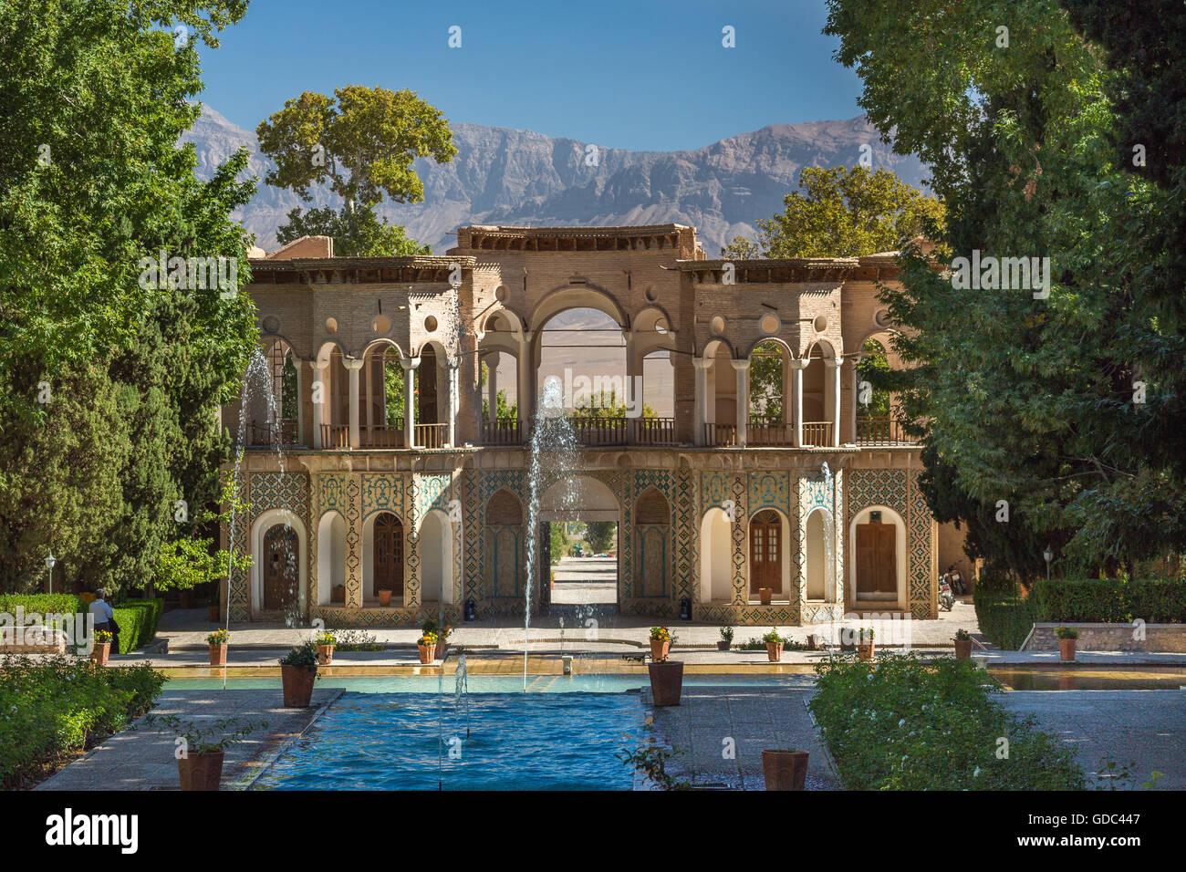 L'Iran,Ville Mahan,(près de la ville de Kerman9,Shazde Garden (jardin du Prince), l'UNESCO du patrimoine Photo Stock