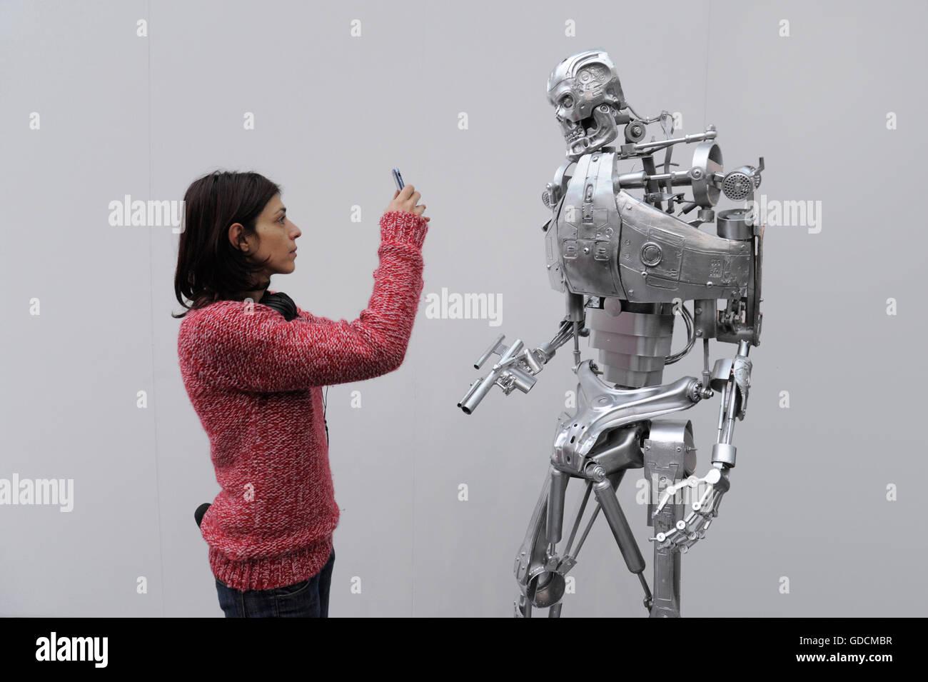 Milan (Italie), Salon de la robotique, de la haute technologie et l'énergie verte Photo Stock