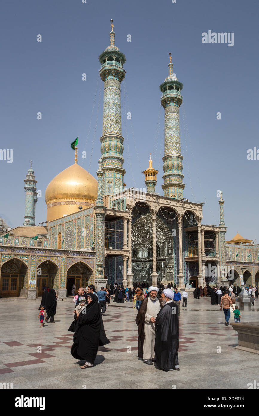 Iran Qom,Ville,Hazrat-e Masumeh (lieu saint) Photo Stock