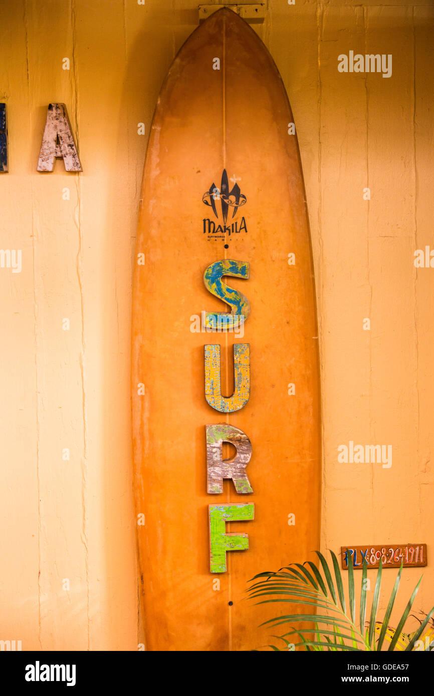 Maui,signer,magasin,para,USA,New York,Nord, Photo Stock
