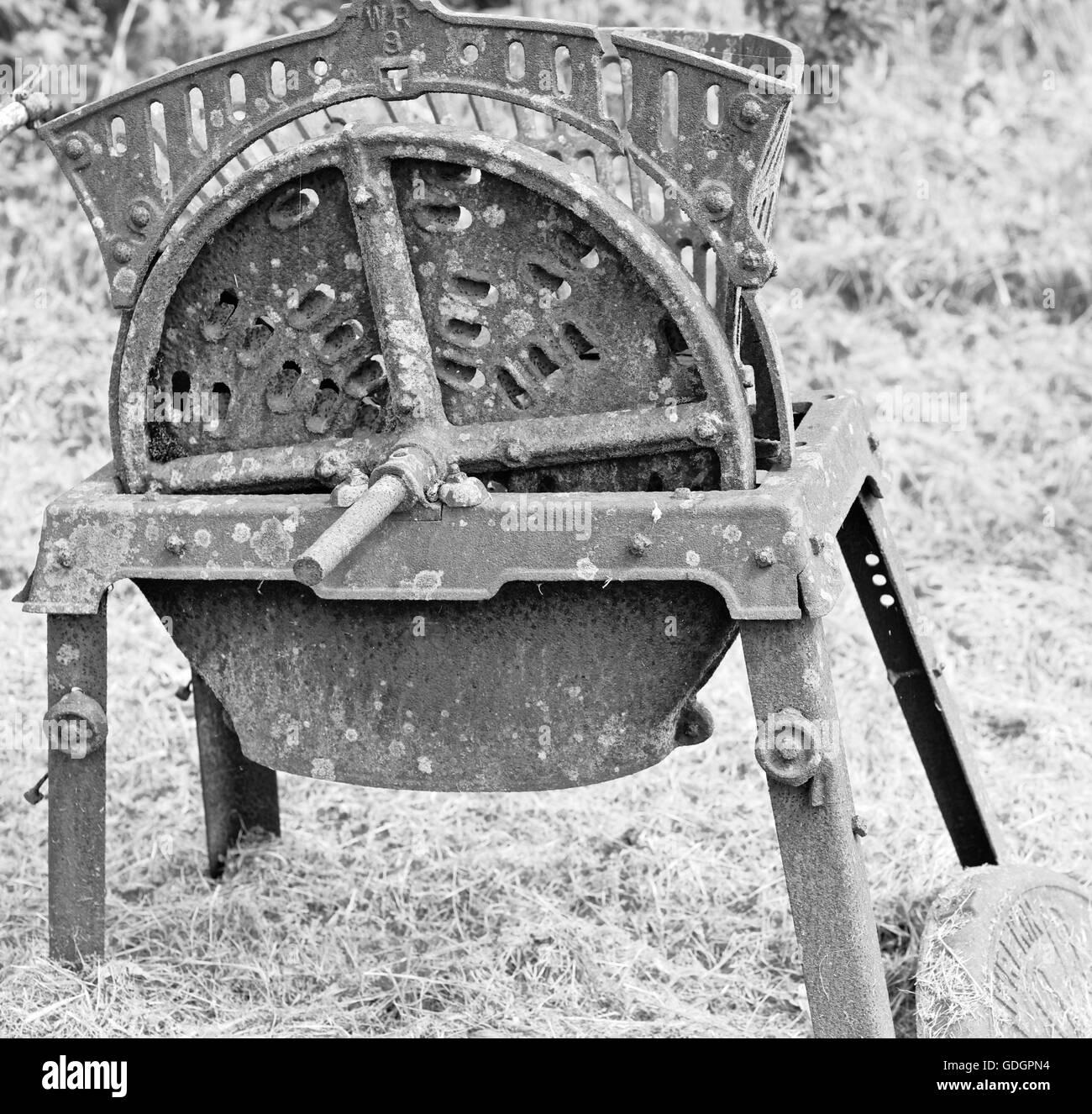 Instrument agricole, la grille à grain Photo Stock