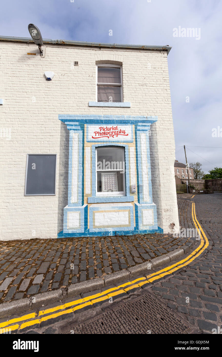 La photographie picturale shop en murs de quai, Berwick-upon-Tweed, Northumberland, England, UK Photo Stock