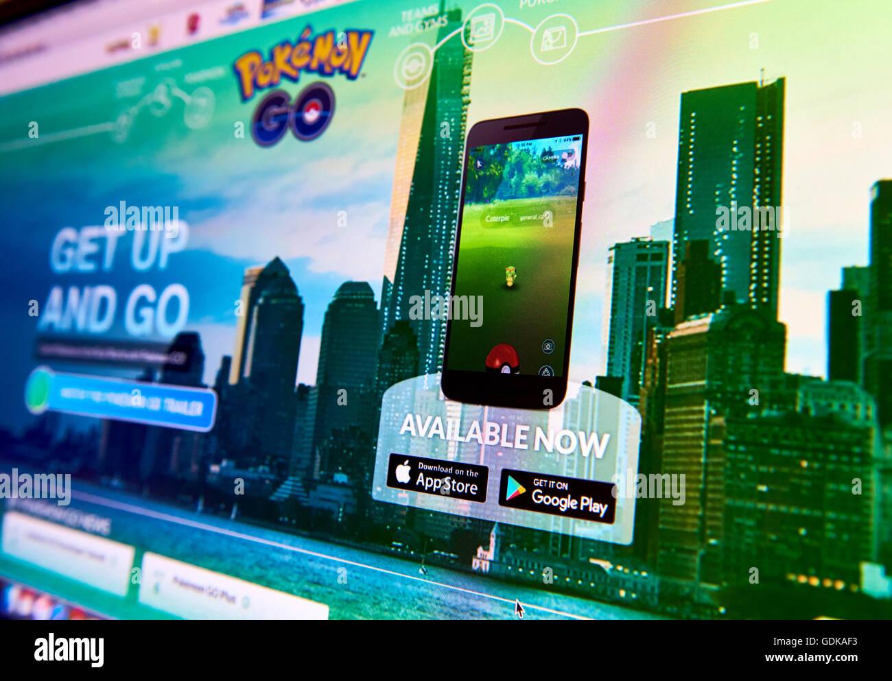 Pokemon Rendez-vous page d'accueil Photo Stock
