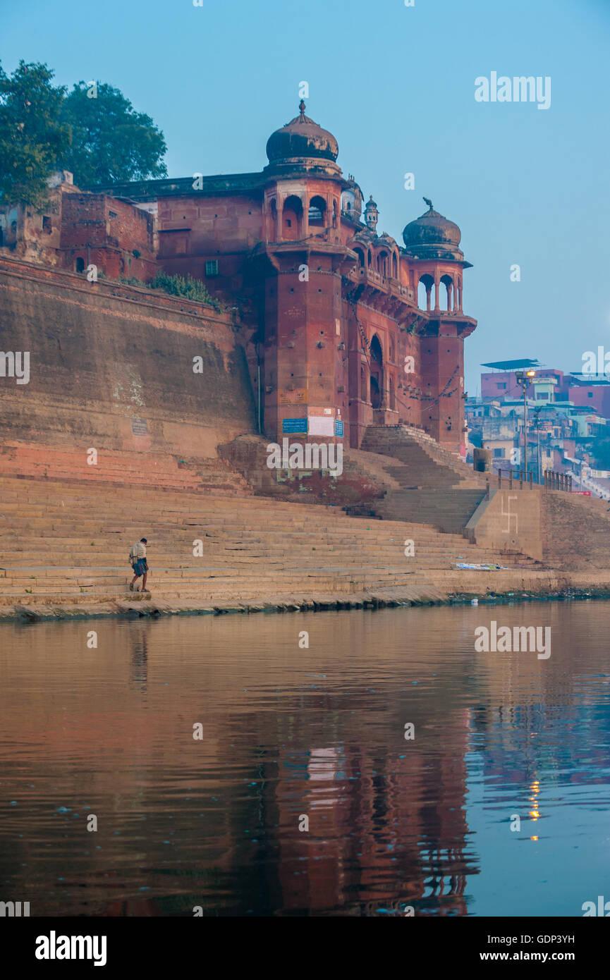 Ville sainte de Varanasi, Inde Photo Stock