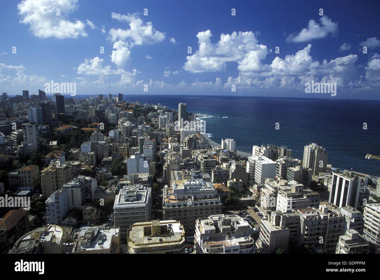 Le centre-ville de Beyrouth sur la côte au Liban au Moyen-Orient. Photo Stock