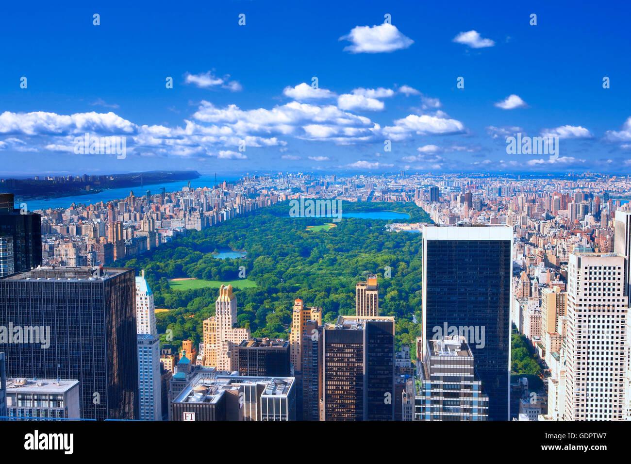 Central Park South à Manhattan, New York City Photo Stock