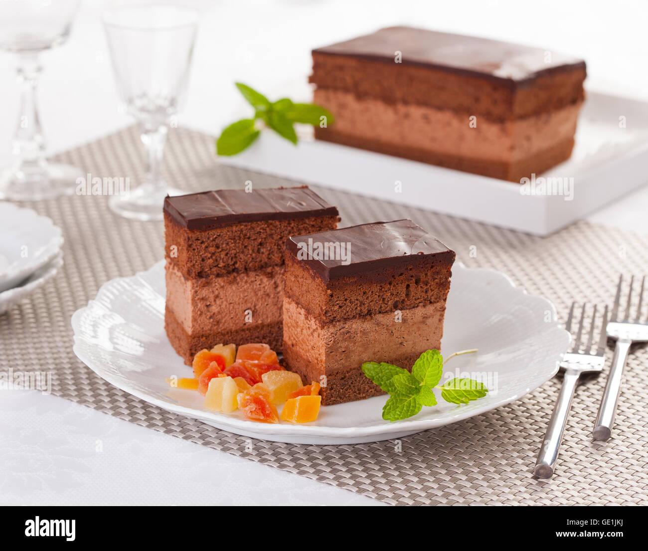 Rigó Jancsi est un cube hongrois traditionnel gâteau au