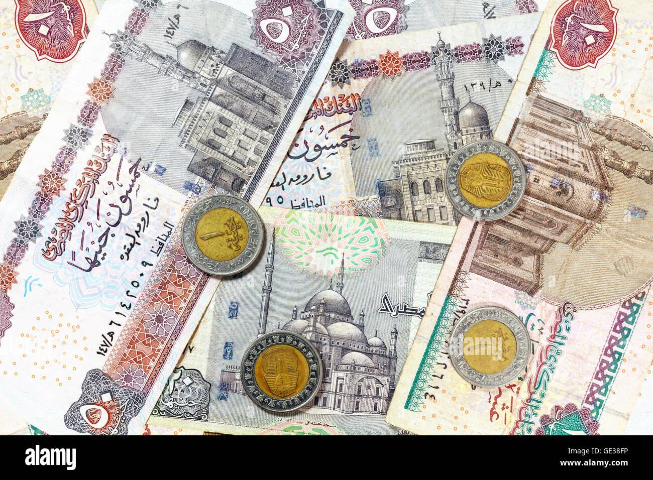 L Argent De L Egypte Livre Des Billets Et Pieces En Euros