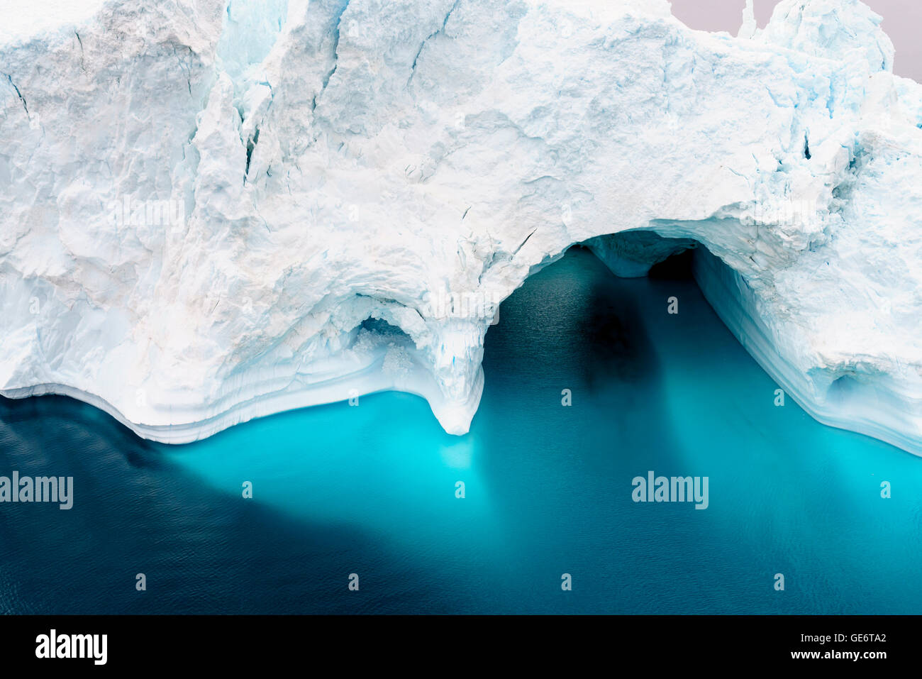 Les icebergs sur océan arctique au Groenland Photo Stock
