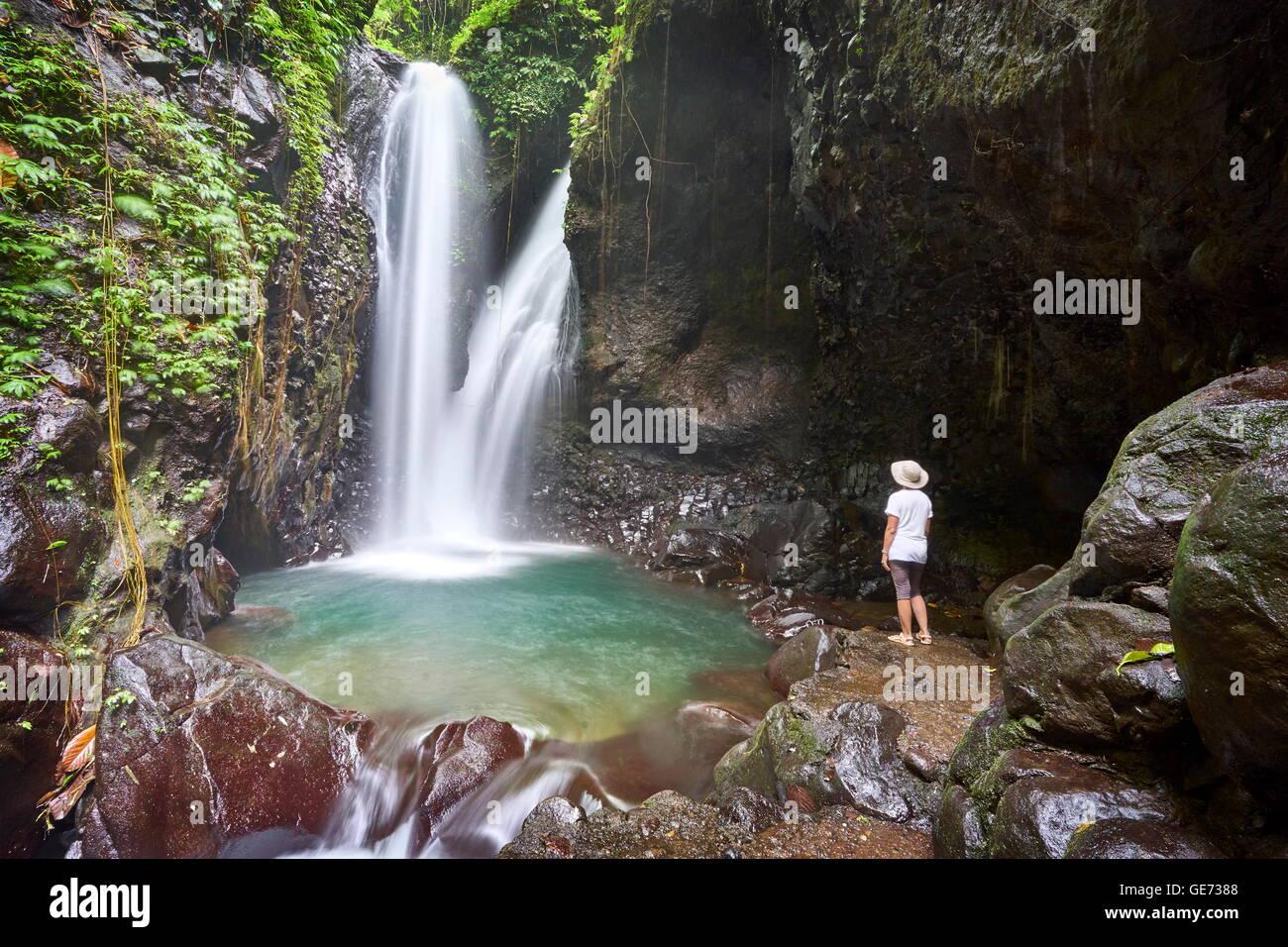 Cascade de Git Git, Bali, Indonésie Photo Stock