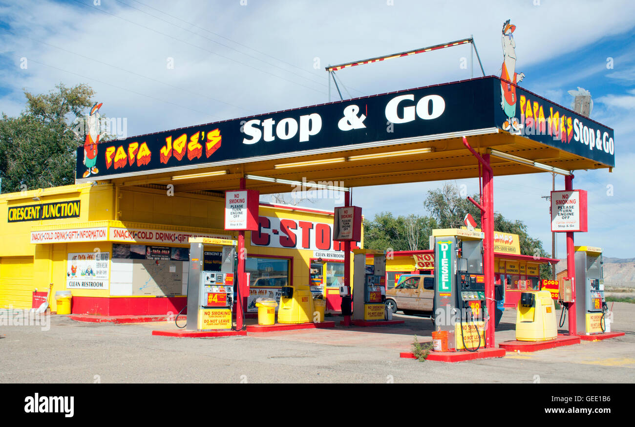 Papa Joe's rest stop dans l'Utah Thompson Photo Stock