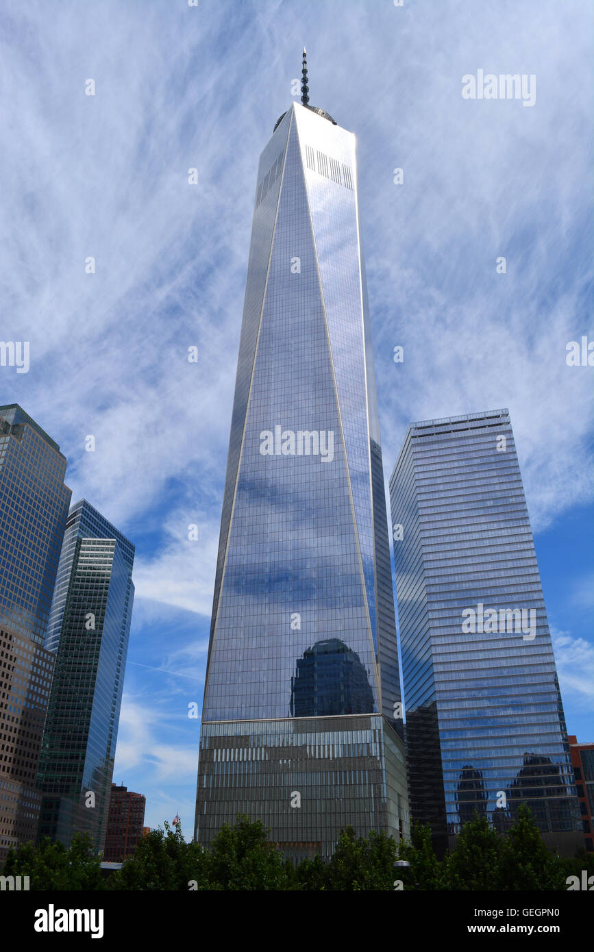 Une tour du World Trade Center. Photo Stock