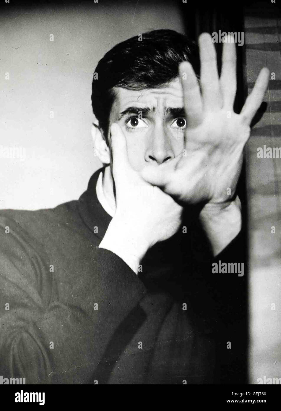 Anthony Perkins Local Caption *** *** 1960, 1960 er, années 60, film, Hitchcock Kriminalfilm, Psycho, thriller, Photo Stock