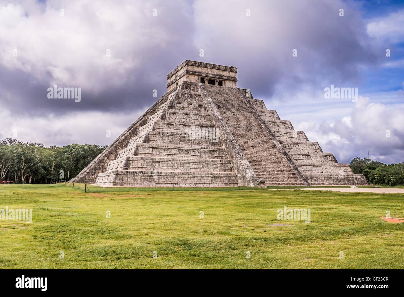 Pyramide Maya Chichen Itza, Yucatan, Mexique Photo Stock
