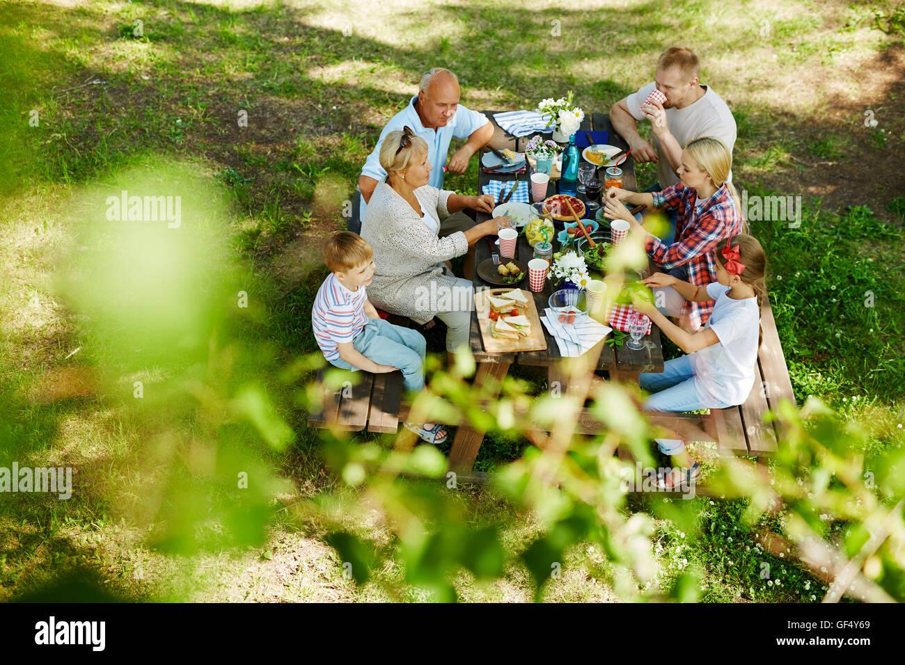 Manger en plein air Photo Stock