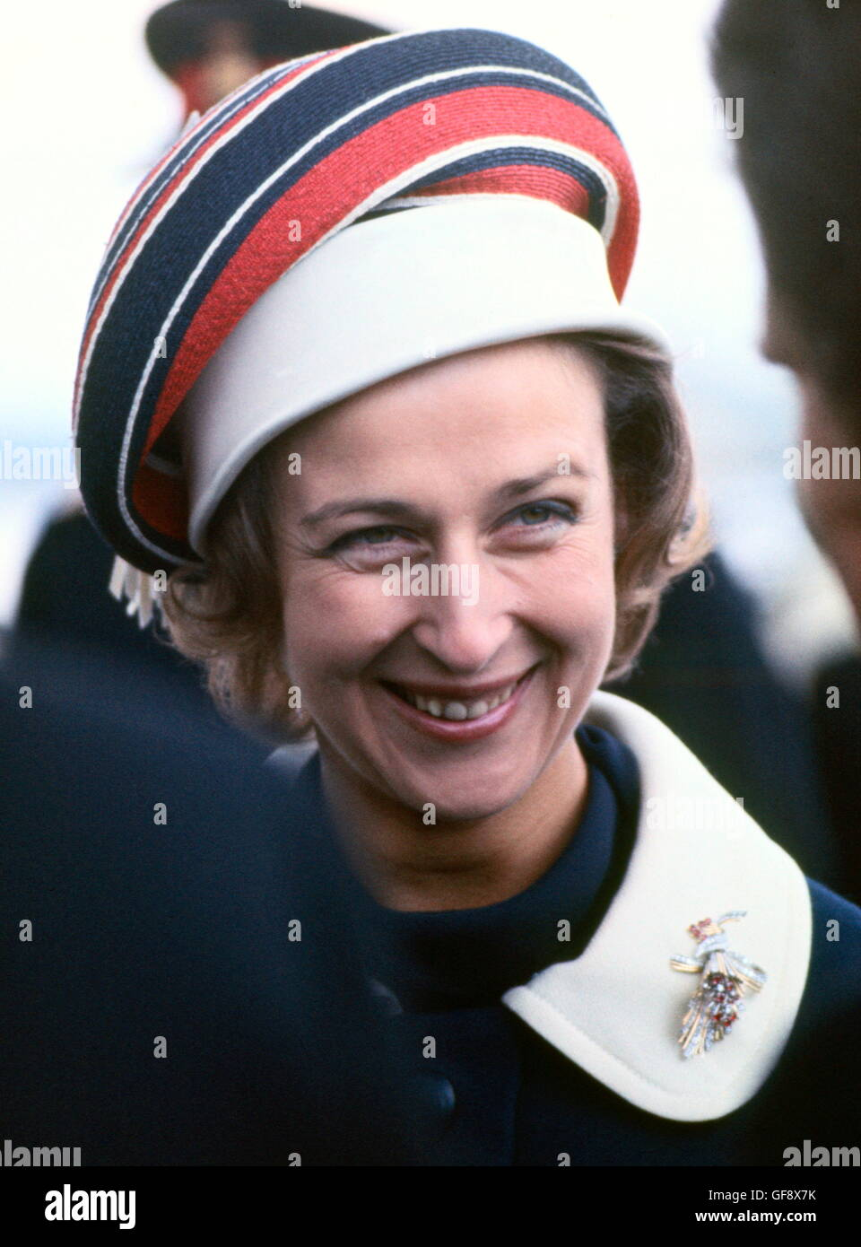AJAXNETPHOTO. Avril 27th, 1970. GOSPORT, ENGLAND. - PRINCESS YACHT NOMS - S.A.R. la Princesse Alexandra, L'honorable Photo Stock
