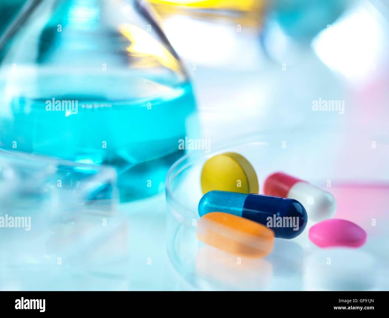 Parution de la propriété. Pharmaceutical Research, conceptual image. Photo Stock