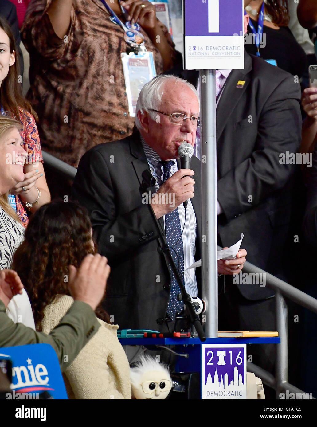 États-unis le sénateur Bernie Sanders (démocrate du Vermont) propose que les règles de la convention Photo Stock