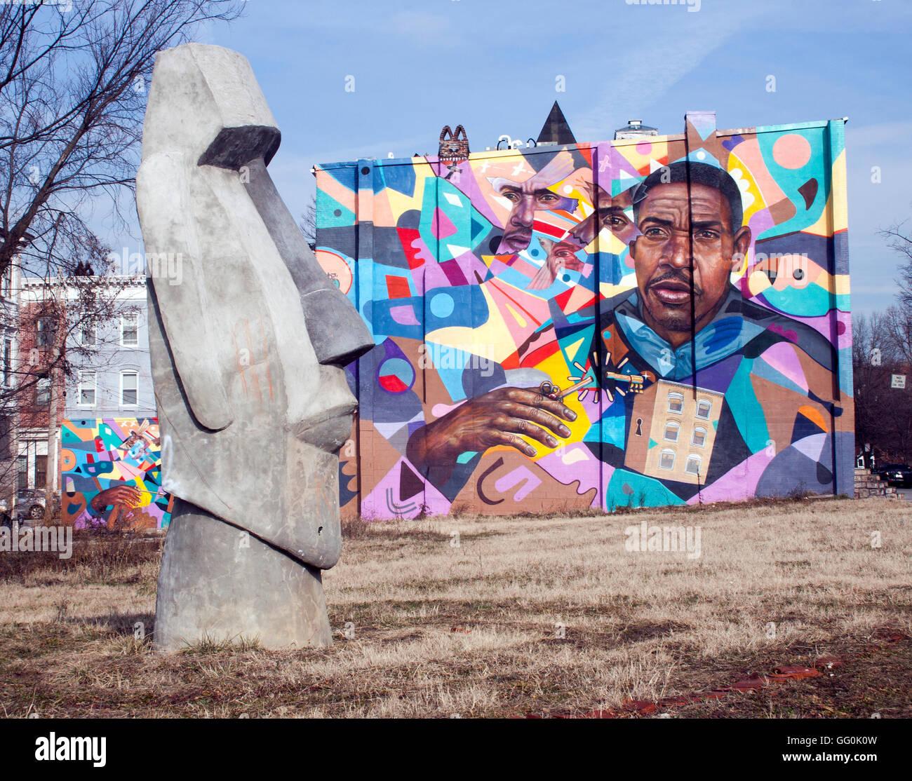 L'île de Pâques en tête de Baltimore Maryland Photo Stock