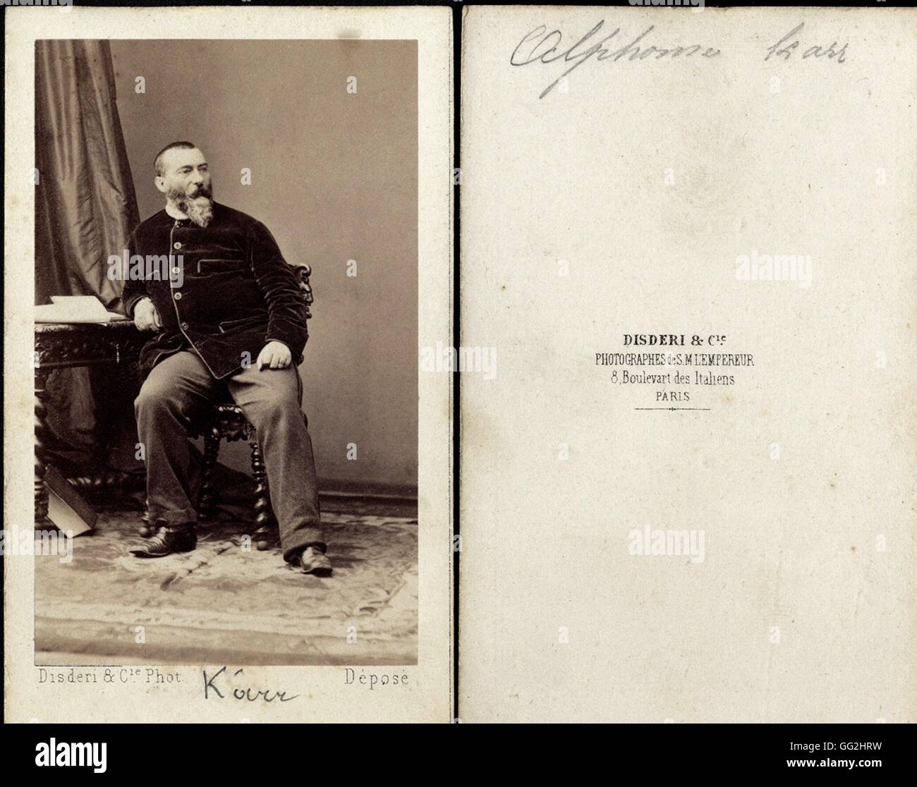 Alphonse Karr 1808 1890 Crivain Et Journaliste Franais Photo Par Andr Eugne Disdri Prises Entre 1857 1865 Carte De Visite Taille