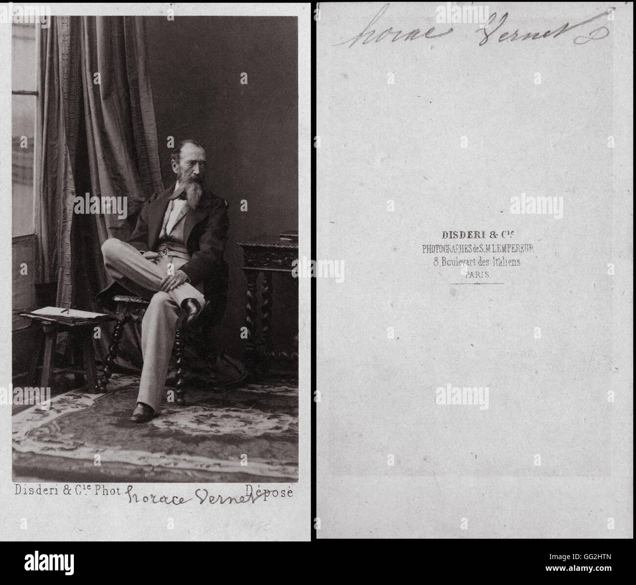 Horace Vernet 1789 1863 Peintre Francais Photo Par Disderi Taille Cartes De Visite