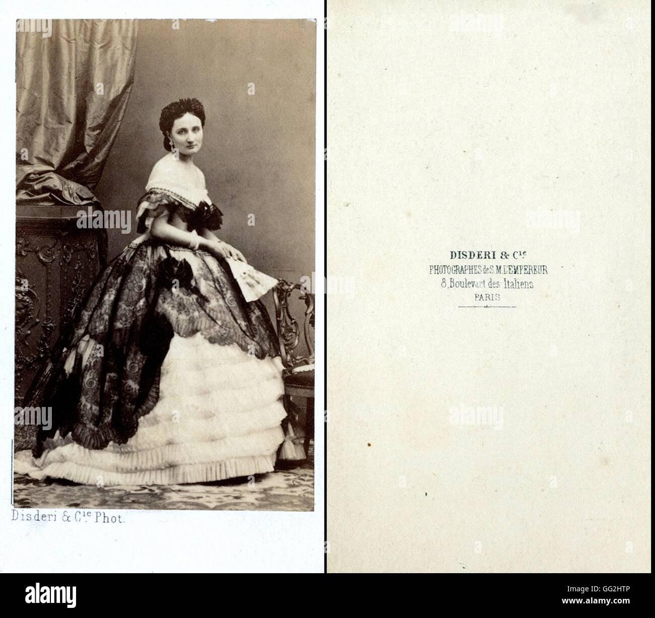 Eugenie De Montijo Comtesse Teba 1826 1920 Imperatrice Consort La France 1853 A 1870 Photographie Par Disderi Taille Cartes Visite