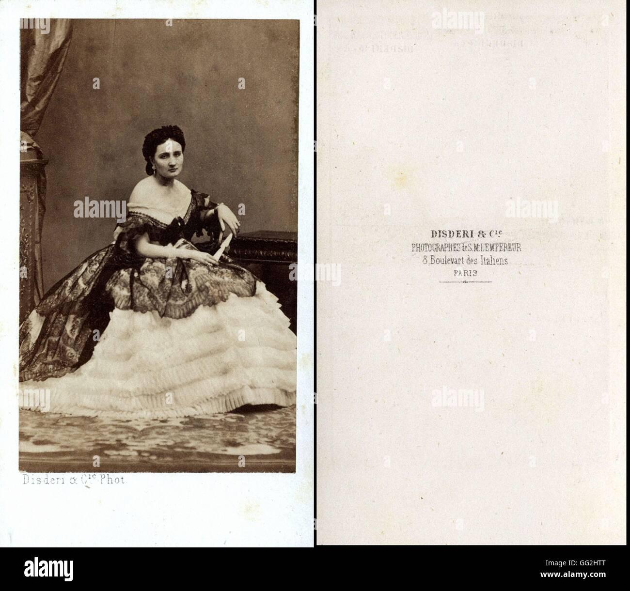 Eugnie De Montijo Comtesse Teba 1826 1920 Impratrice Consort La France 1853 1870 Photographie Par Disderi Taille Cartes Visite